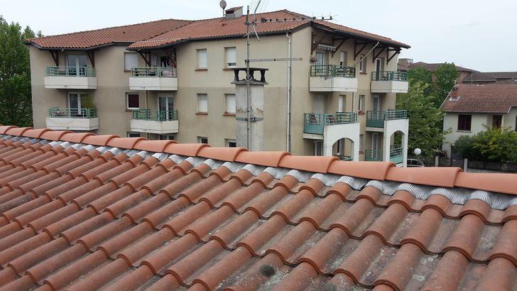 Remplacement d'un faîtage batit par un faîtage a sec ventilé à Toulouse Minimes