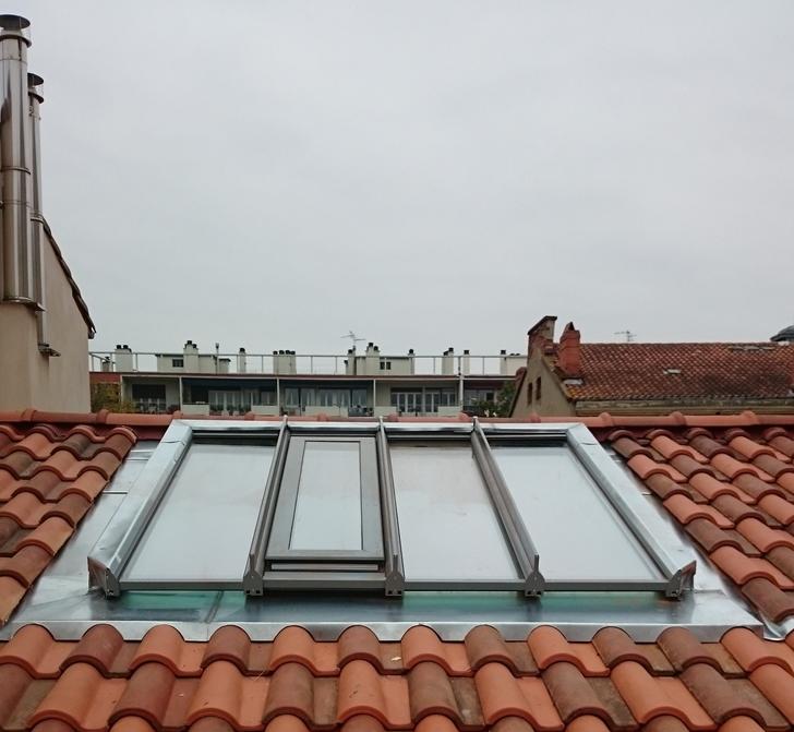 Retour zinc sur verrière en centre ville de Toulouse