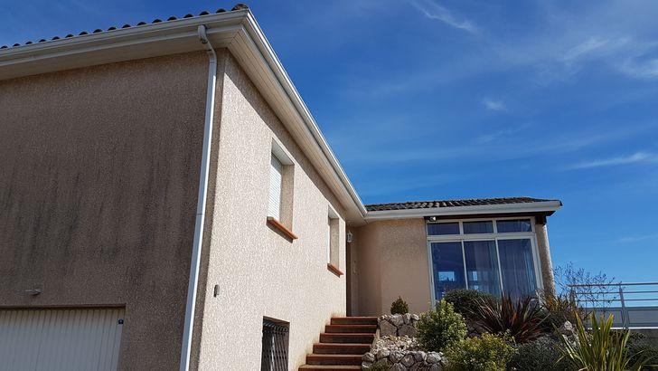 Habillages de planche de rive en aluminium blanc à Lauzerville 31650